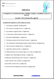 Worksheets Adjective Worksheets 4th Grade adjective worksheets studychamps worksheets