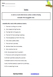 Printable verb worksheets for teachers, parents and students. Learn ...
